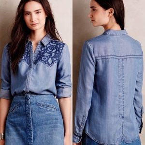 Anthropologie Holding Horses Canora Embroidered